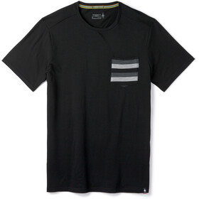 Smartwool Merino 150 Pocket T-Shirt Herren black stripe